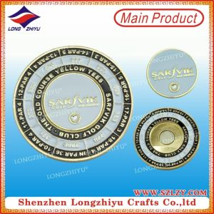Customized Enamel Metal Coin Letter Embossed Finish Coins pictures & photos