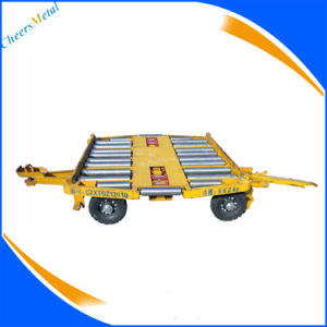 4 Wheels Airport Pallet Container Transport Trailer Dolly pictures & photos