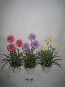2012 New Design Arificial Daisy/Chrysanthemum Flowers with Pot Mh-088