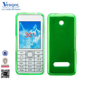 Green Solid Matt Style TPU Case for Nokia 301