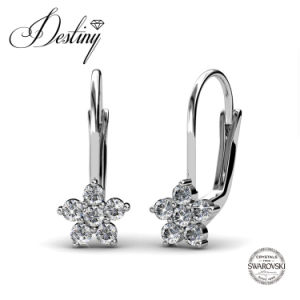 Destiny Jewellery Crystal From Swarovski Flower Elegant Clip Earrings
