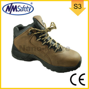 Nmsafety Crazy Horse All Leather Rubber Outsole Cement Safety Boots pictures & photos