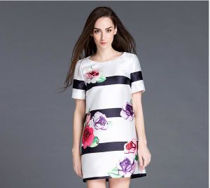 Flower Printing Women Dress 2015 Newest Fashion pictures & photos