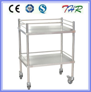 Hospital Stainless Steel Treatment Trolley (THR-MT240) pictures & photos