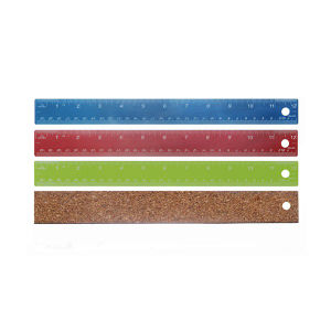 Colored Cork-Backed Measuring Tool Straight Ruler pictures & photos