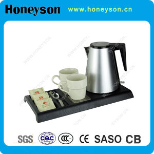 Honeyson New Hotel Superior Electric Kettle with Tray Set pictures & photos