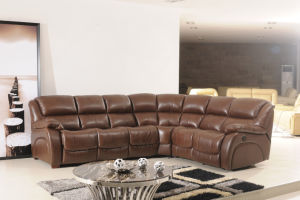 Genuine Leather Recliner Sofa (850) pictures & photos