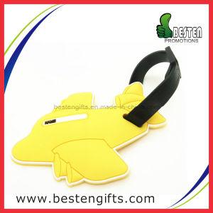 OEM Design Airplane Shape Soft PVC Rubber Luggage Name Tag (PV00026)