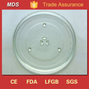 Borosilicate 285mm Microwave Glass Turntable Plate for Food pictures & photos