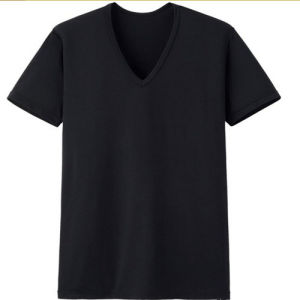 Short Sleeve V Neck Crew Neck Women′s Large T-Shirt pictures & photos