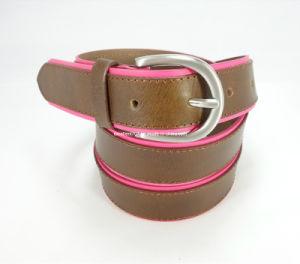 Elegant Women Leather Waist Belt with Nicke-Free Buckle