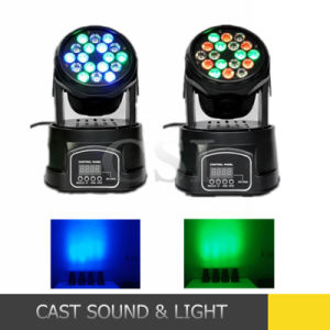 18PCS*3W Mini LED Moving Head Wash Light for Stage Disco pictures & photos