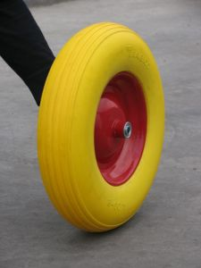 PU Flat Free Tyre PU Wheel PU Wheelbarrow Tyre pictures & photos