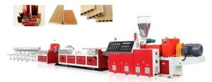 PVC Skirting Profile Extrusion Line pictures & photos