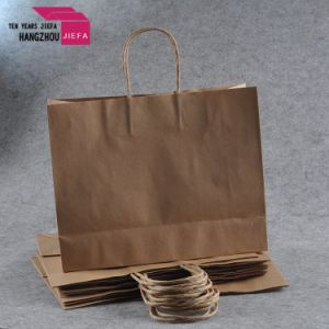 Meduim Size Cmyk Printed Paper Gift Bag Brown Paper Bag pictures & photos