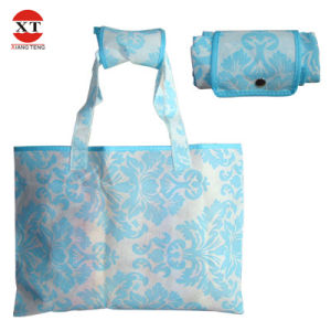 420d Polyester Foldable Shopping Bag with Small Pouch Fly-Wf00016 pictures & photos