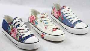 2015women Canvas Shoes Running Shoes with Flower pictures & photos