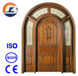 High Quality Exterior Meranti Solid Wooden Door pictures & photos