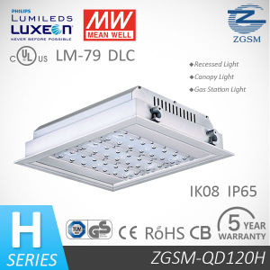 40W to 160W IP66 LED Ceiling Recessed Canopy Light for Gas Station with Motion Sensor pictures & photos