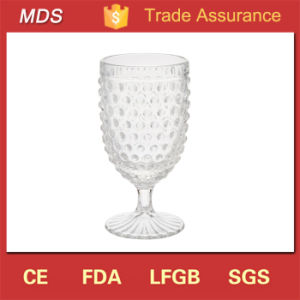 Handmade 420ml Vintage Hobnail Wine Glass Water Goblet Glass pictures & photos