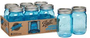 Blue Mason Jar 15oz 16oz Glassware Drinkware pictures & photos
