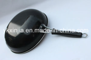 Carbon Steel Non-Stick Chinese Wok with Handle Kitchenware pictures & photos