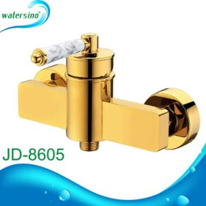 Classic Gold Bath Mixer with Marble Handle pictures & photos