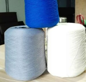 Cationlic Yarn Dyed 100% Ring Spun Polyester Yarn pictures & photos