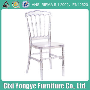 Elegant Crystal Plastic Napoleon Chair for Event Use pictures & photos