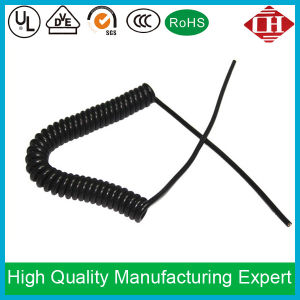 China PVC Spiral Coiled Cord Copper Conductor Electric Wire ...
