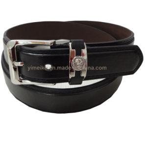 Factory Wholesale Men′s PU Belt with Alloy Pin Buckle pictures & photos
