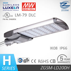 200W PWM Signal1-10DC LED Street Light 50000 Hours Life Span pictures & photos