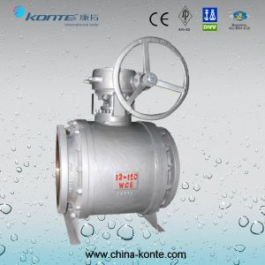 Side Entry Type Pipeline Gear Operated Trunnion Ball Valve pictures & photos