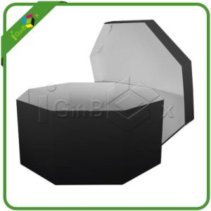 Black Hexagon Rigid Cardboard Paper Gift Box pictures & photos