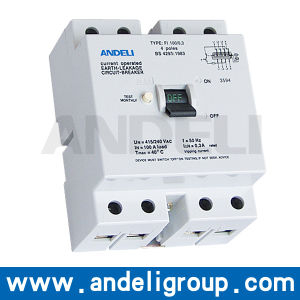 4p 63A 100mA RCCB Circuit Breaker (DZL9-100) pictures & photos