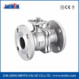 Pneumatic Stainless Steel 2PC Flange Ball Valve pictures & photos