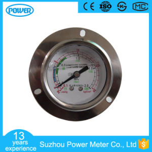 2.5′′ 63mm Glycerin Filled Compound Pressure Gauge with Panel Mounting pictures & photos