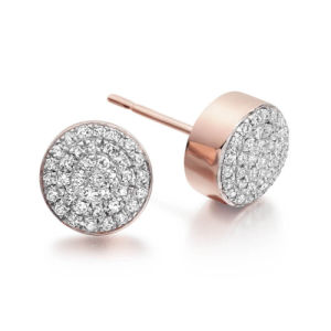 Micro Pave Setting 925 Silver Stud Earrings with AAA CZ pictures & photos