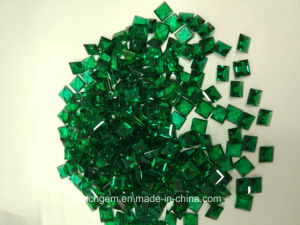 Lab Created Emerald Square 7X7mm for Jewelry pictures & photos