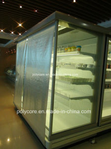 Transparent Night Blind for Supermarket Refrigeration Showcase pictures & photos