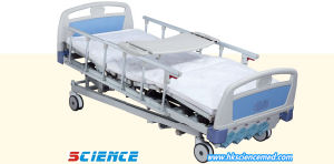 Luxurious Five Functions Manual Hospital Bed with CE Certificate pictures & photos