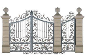 Elegant Design Decorative House Used Wrought Iron Gates pictures & photos