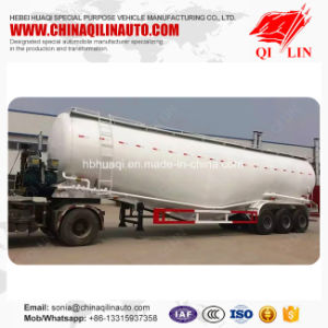Qilin 3 Axles Heavy Duty 80 Dwt Bulk Cement Road Tanker Trailer Specs pictures & photos