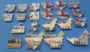 2016 UAE National Day Souvenir Magnet Badge Pins, 45 Years UAE Gifts pictures & photos