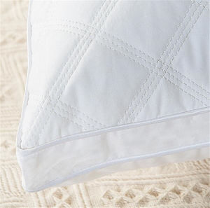 Hot Sell Solid White Embroidery Pillow Perfect Gusset Home Bedding Pillow pictures & photos