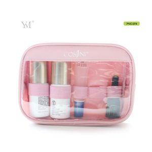 Latest Lady Beauty Women Clear PVC Mircrofiber Cosmetic Makeup Clutch Bag pictures & photos