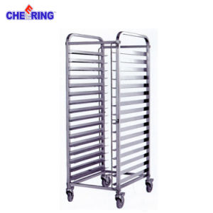 Hot Sale 16 Pan Multi-Functional Stainless Steel Basket Rack Bakery Trolley pictures & photos