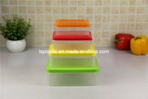 Set 4 PCS Plastic Food Storage Containers (LS-1031)