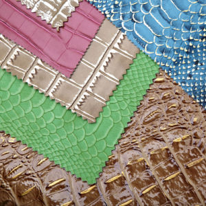 Crocodile Pattern Synthetic Leather for Shoes and Bags (Animal pattern) pictures & photos