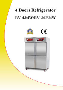 CE Approval 4 Doors Commercial Refrigerator (RV)